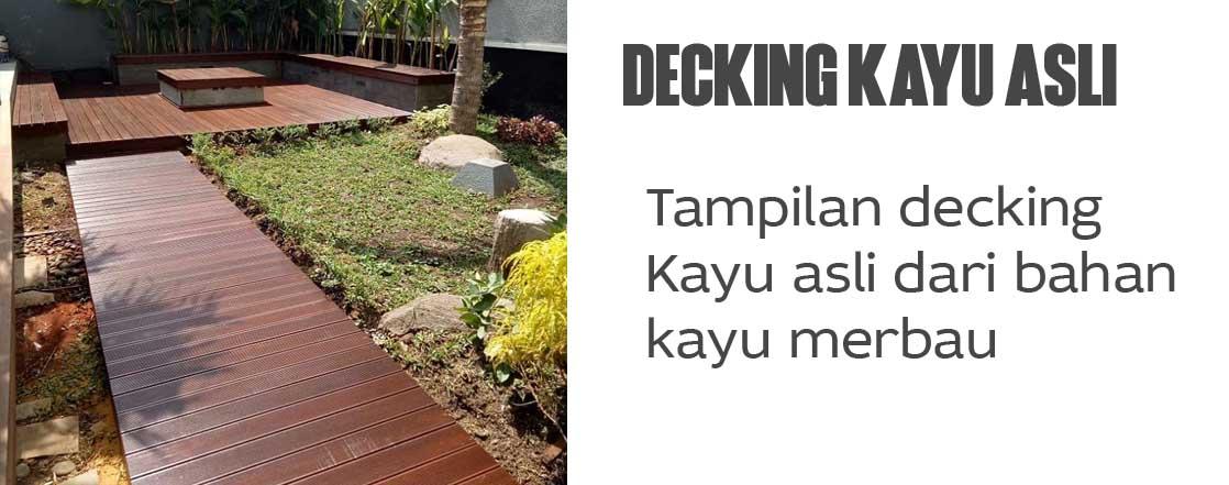 decking kayu asli