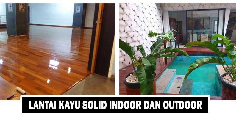 pilih lantai kayu solid
