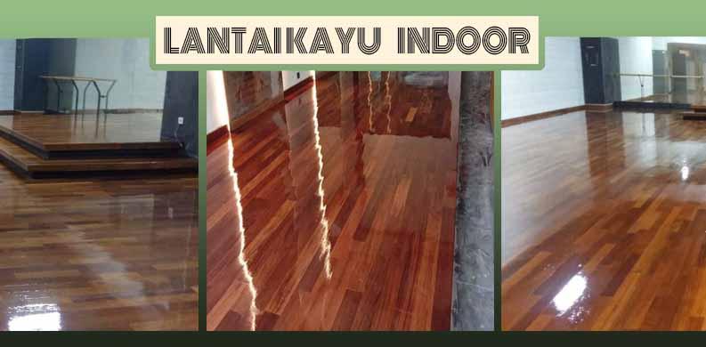 lantai kayu solid indoor